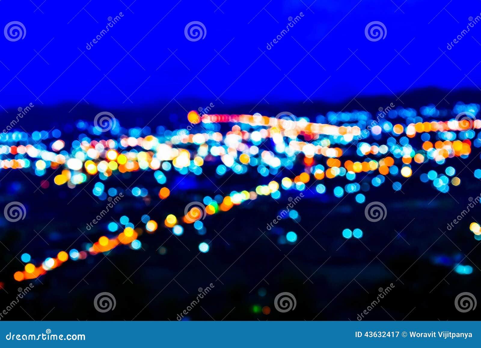 Lichten bij nacht