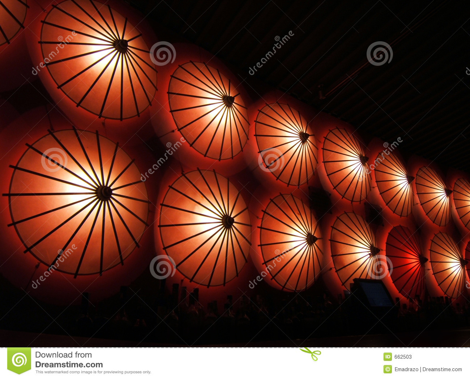 Lichten in een restaurant