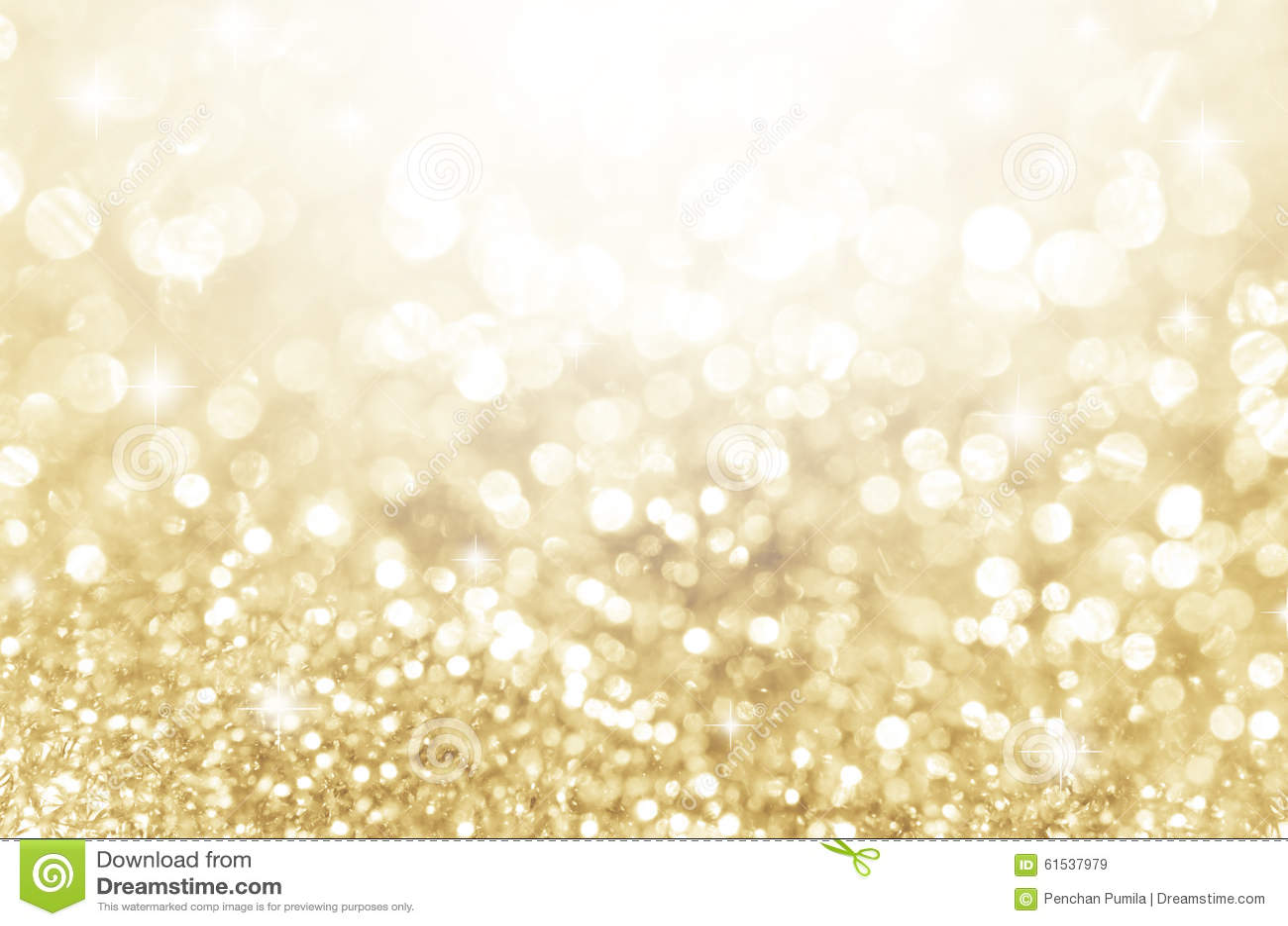 Lichter auf Gold mit Stern bokeh Hintergrund