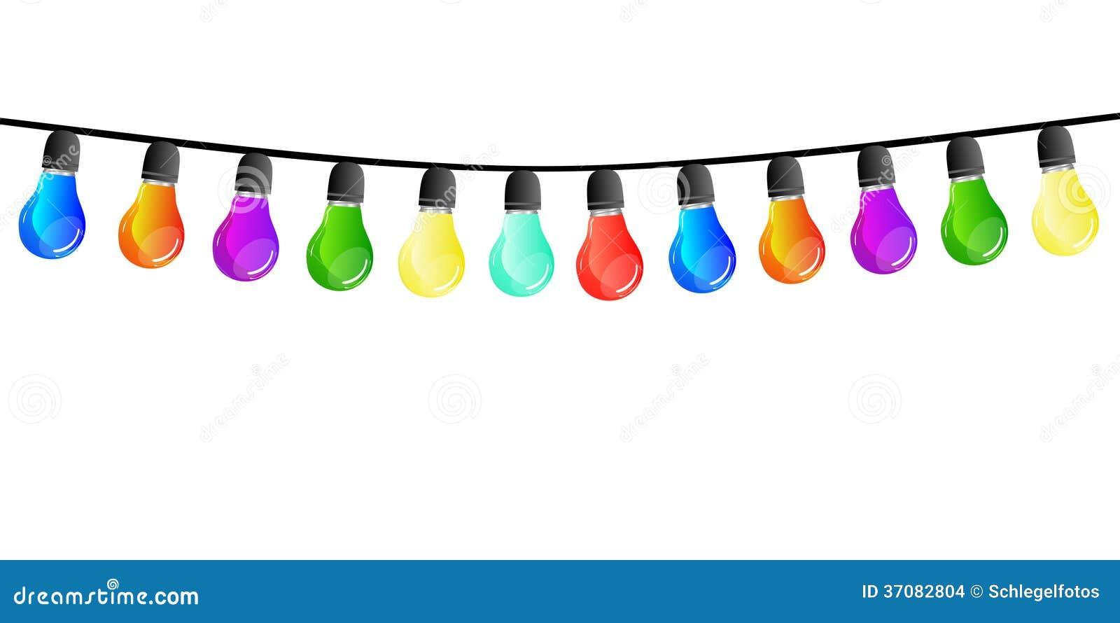 Lichterkette lokalisiert stock abbildung bild von farbe - Party lichterkette ...