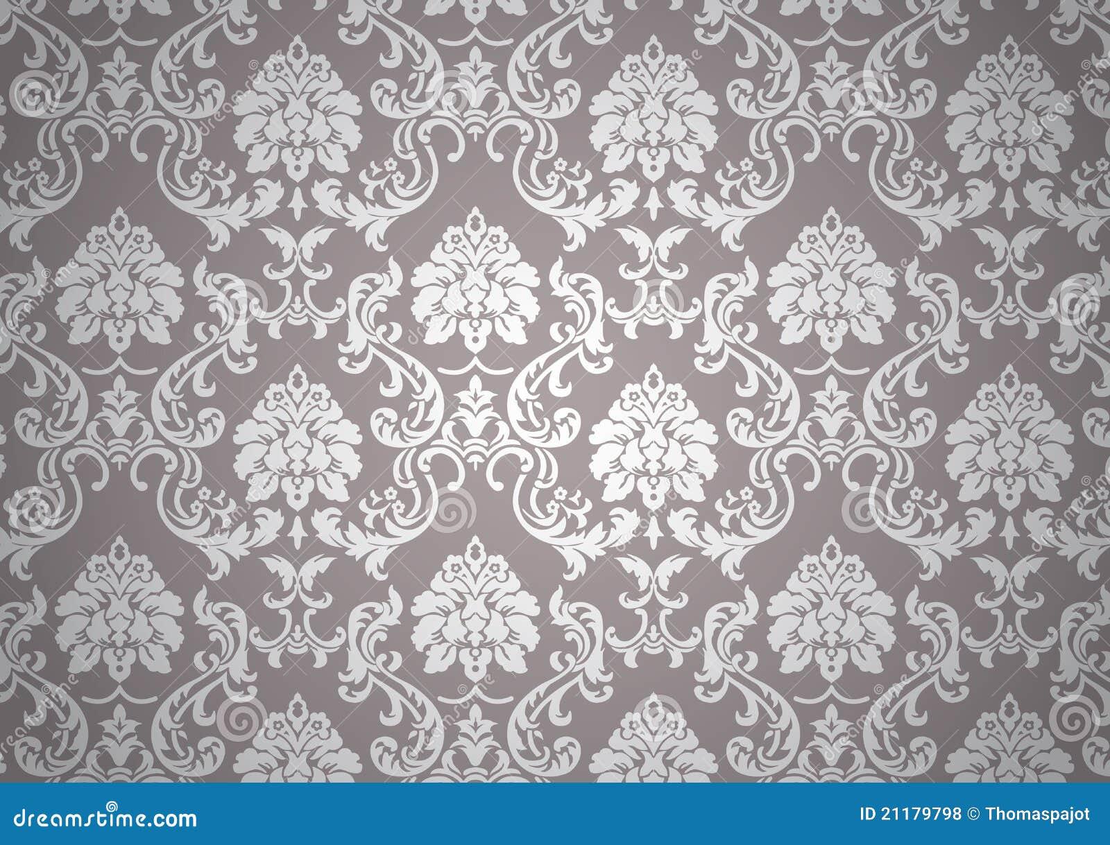 Lichtgevend barok behang vector illustratie illustratie for Tapeten papier