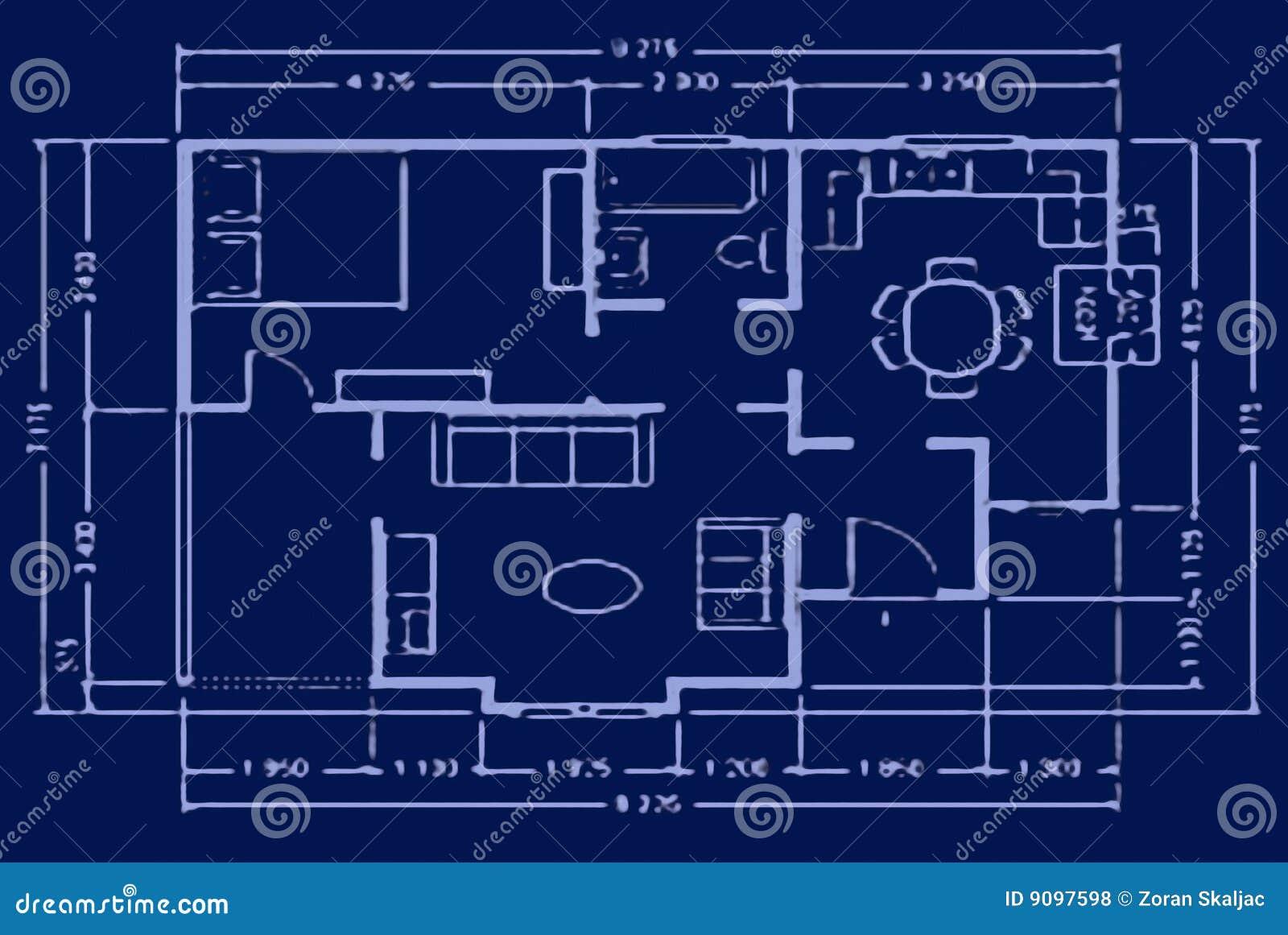 Lichtpause - Hausplan