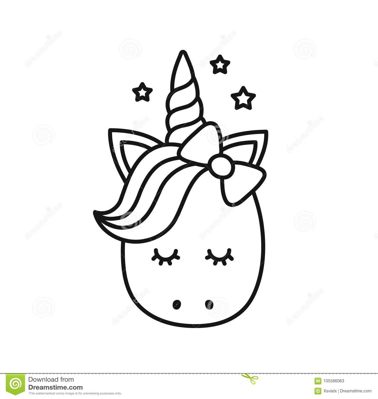 Licorne Mignonne Personnage De Dessin Anime De Vecteur Illustration
