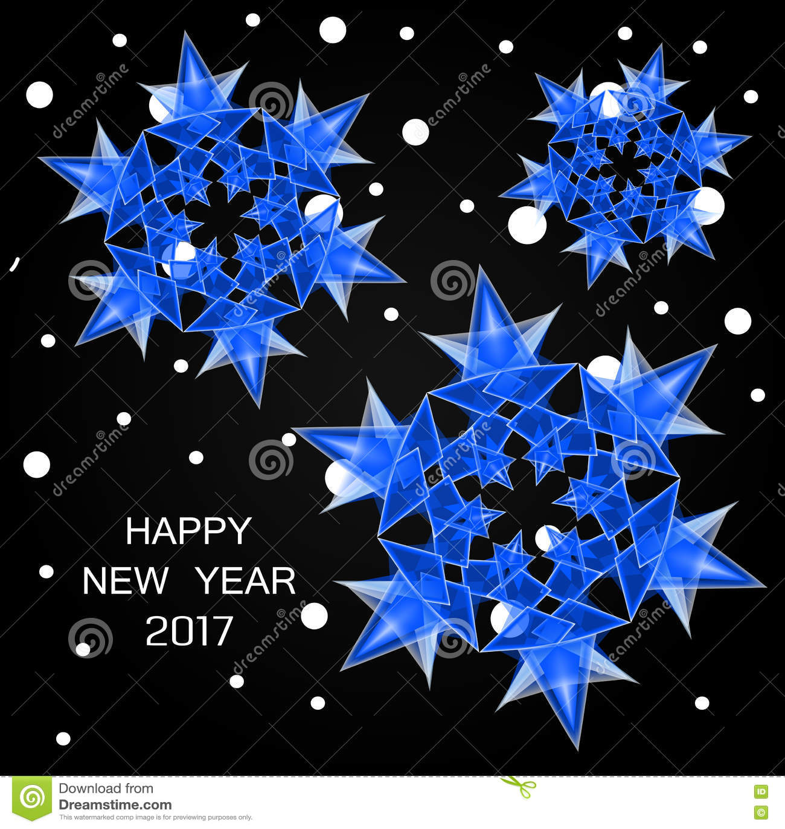 2017 liczb nowy rok i śnieg