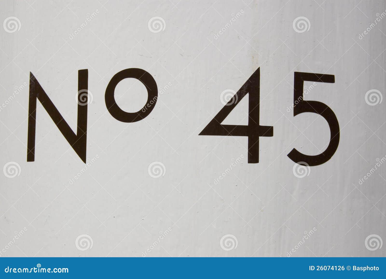 Liczba Czterdzieści pięć