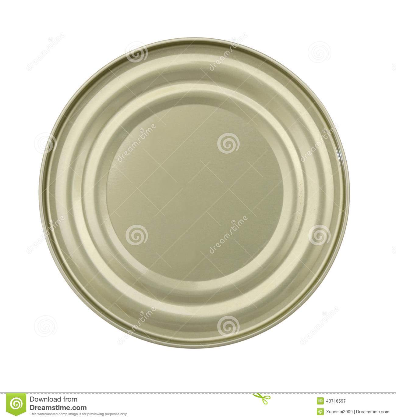 Lid Or Base Of Food Tin Can Stock Image