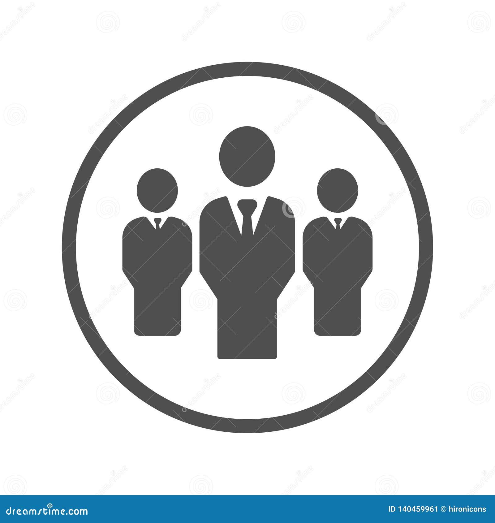 Lider, lider biznesu, szef ikona