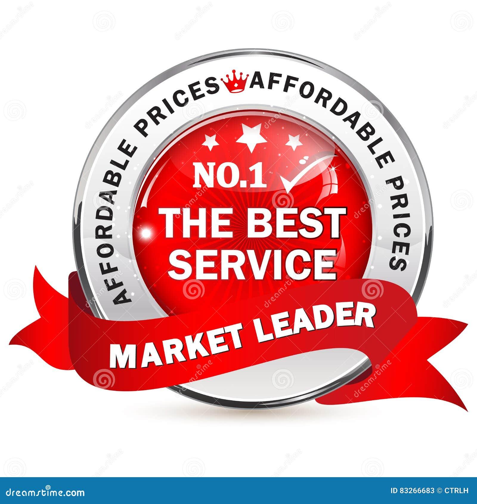 Lider Rynku biznesowa etykietka z faborkiem