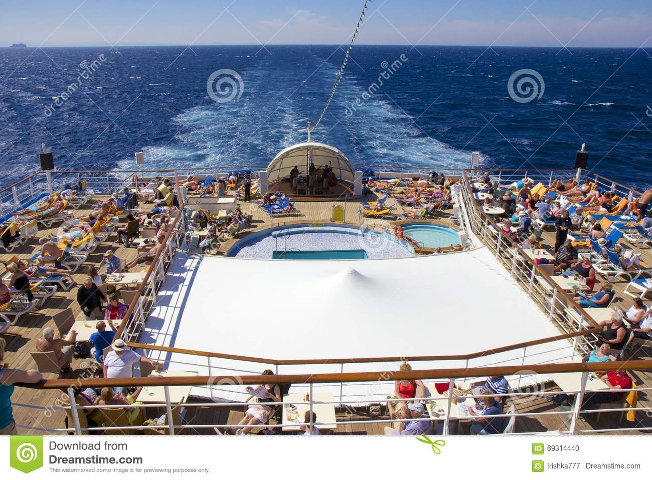 Lido Deck On Cruise Ship Editorial Image Image Of Voyage
