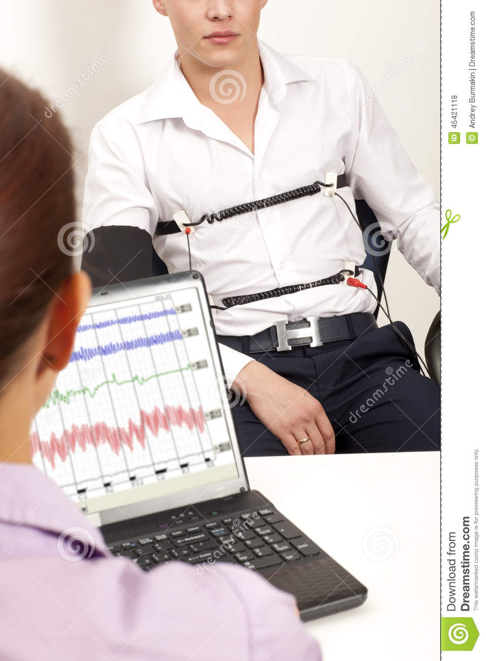 Lie Detector stock photo  Image of consequence, adult - 45421118