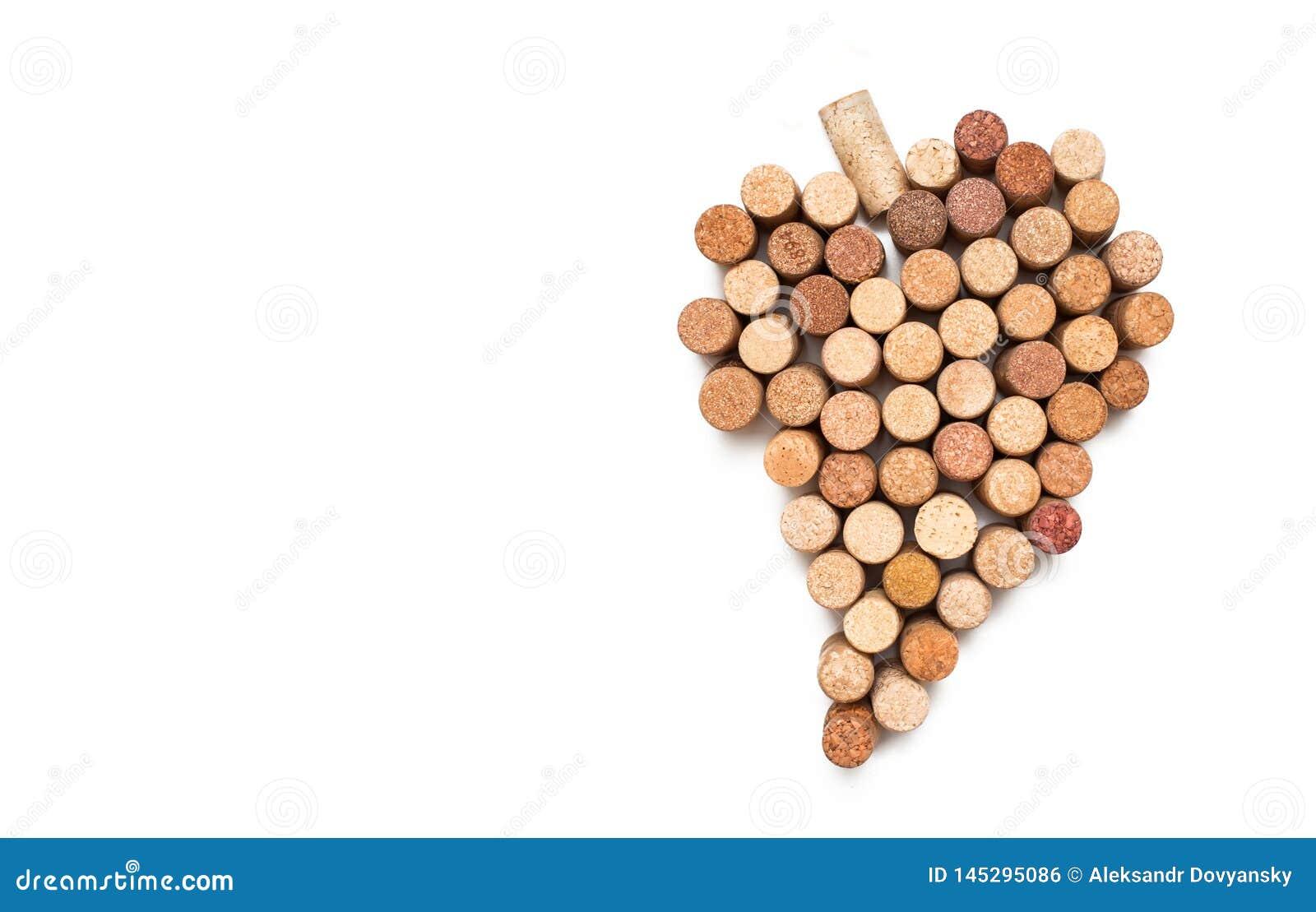 Liebe f?r Wein Weinkorken-Herzsymbol