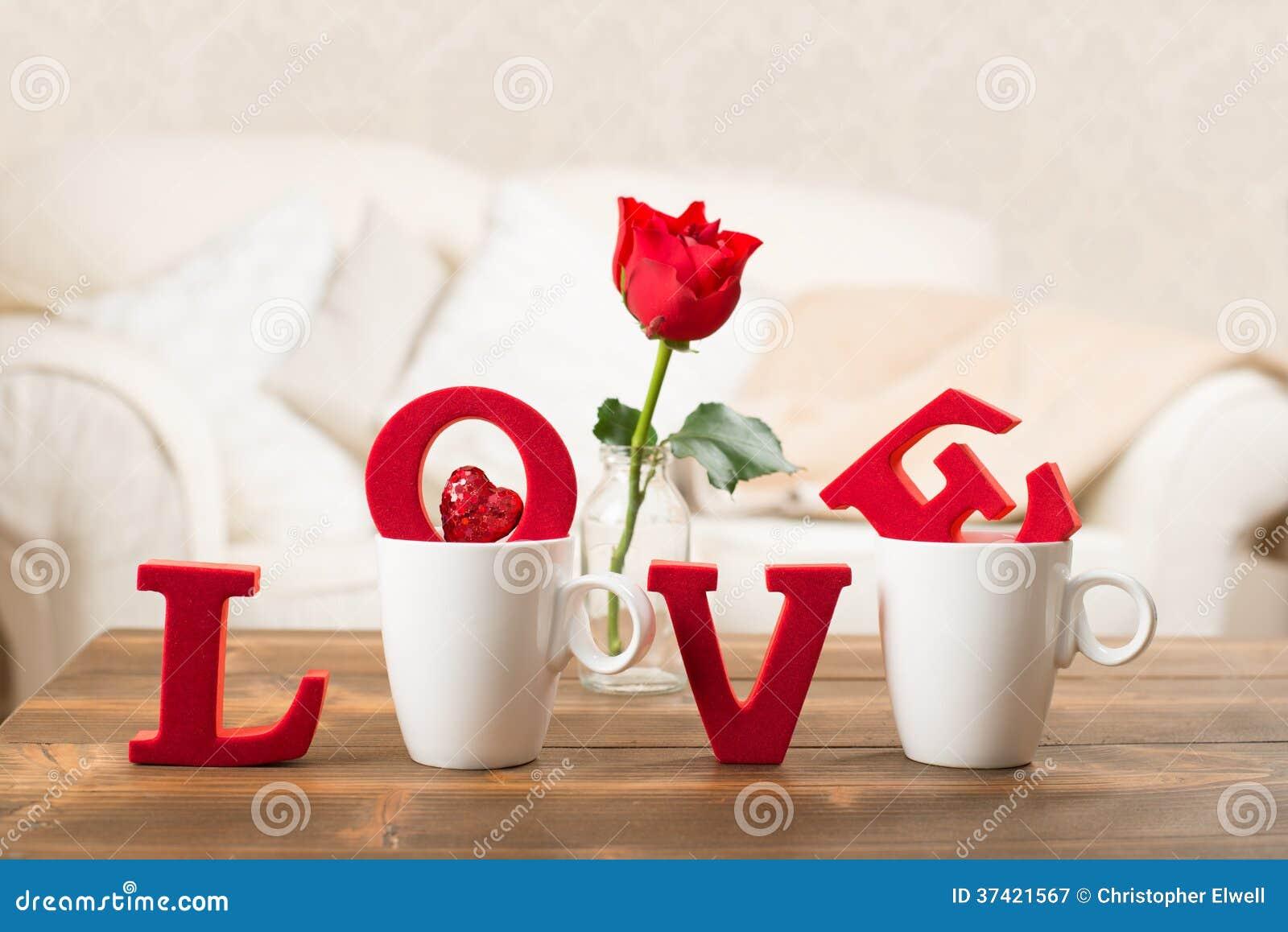 Liebe mit Teetassen