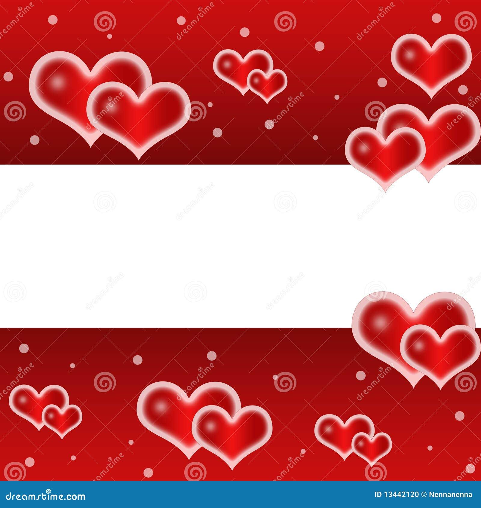 Lieben Sie, romantischer, roter Hintergrund mit netten Inneren