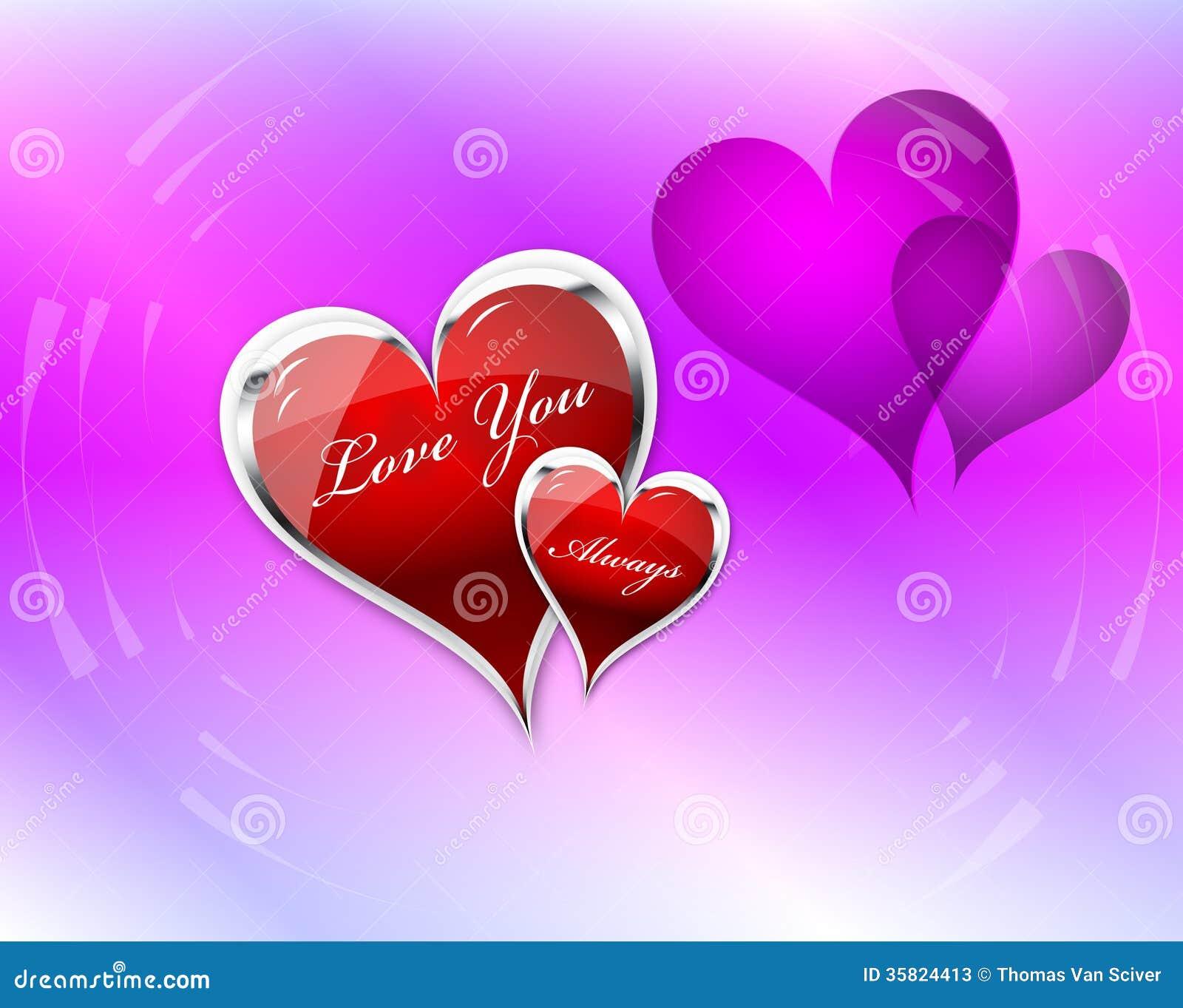 Lieben Sie Sie Herzdoppeltes