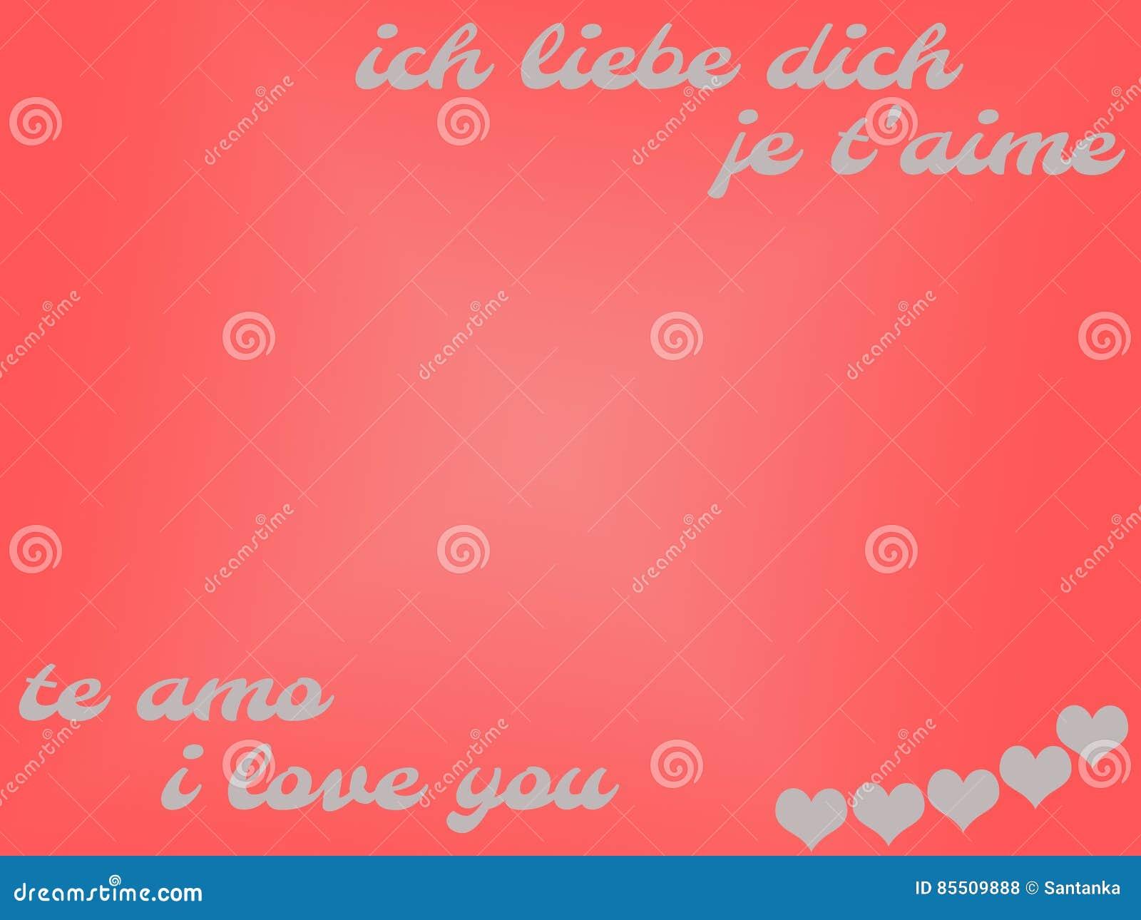 Ich Liebe Dich Englisch