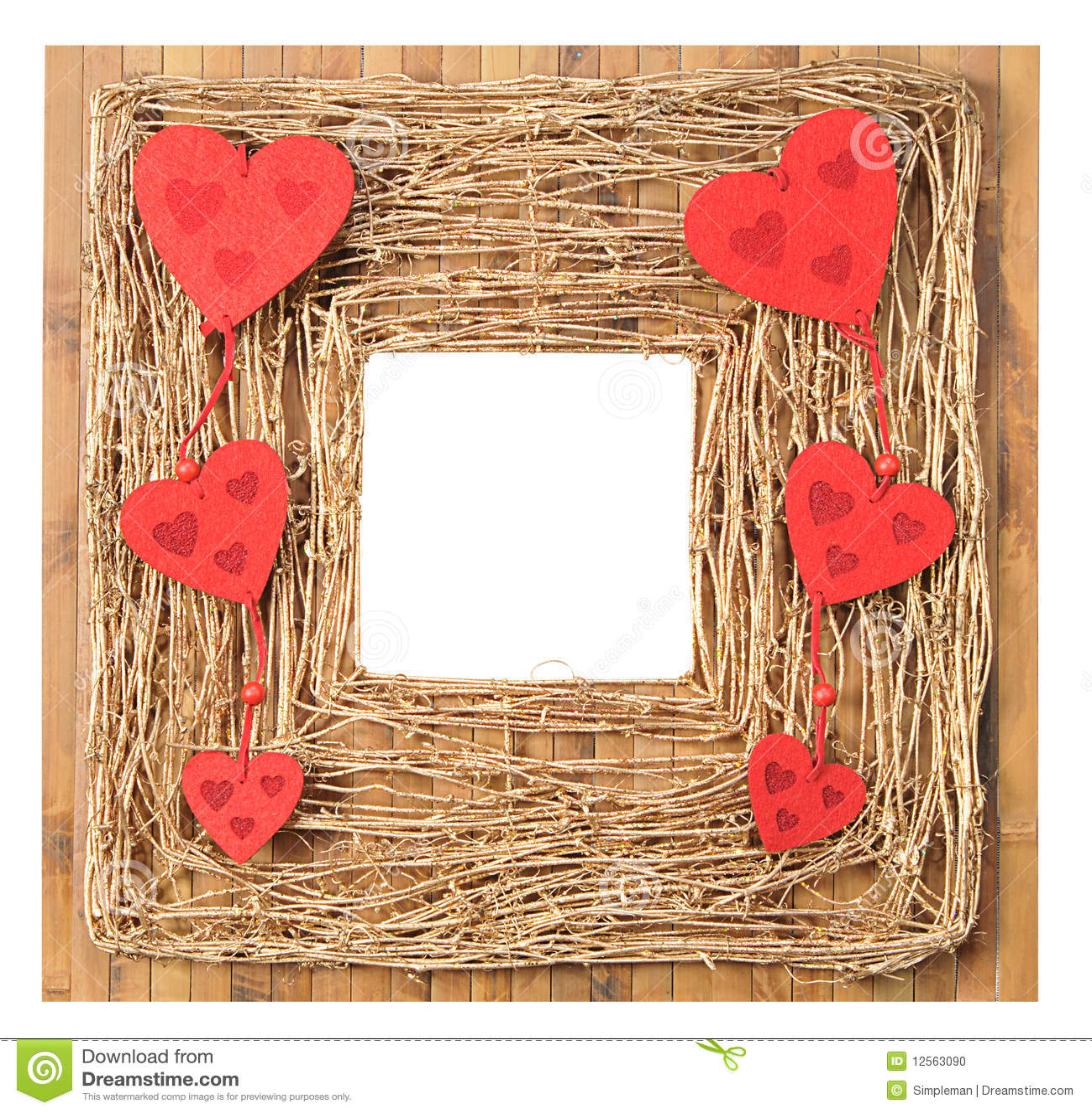 Liebes-Symbol-Bilderrahmen stockfoto. Bild von muster - 12563090