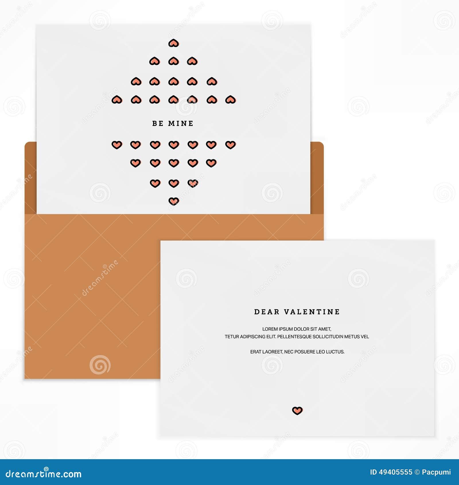 Download Liebesbriefdesignschablone vektor abbildung. Illustration von schön - 49405555