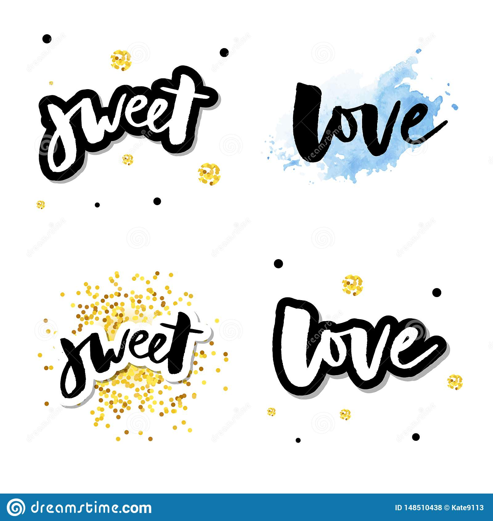 Liebeslogovektorbeschriftungsslogan-Kalligraphiesatz