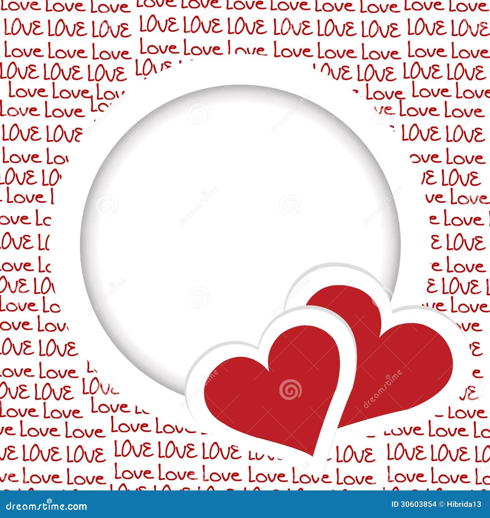 Liebesrahmen mit Herzen vektor abbildung. Illustration von kunst ...