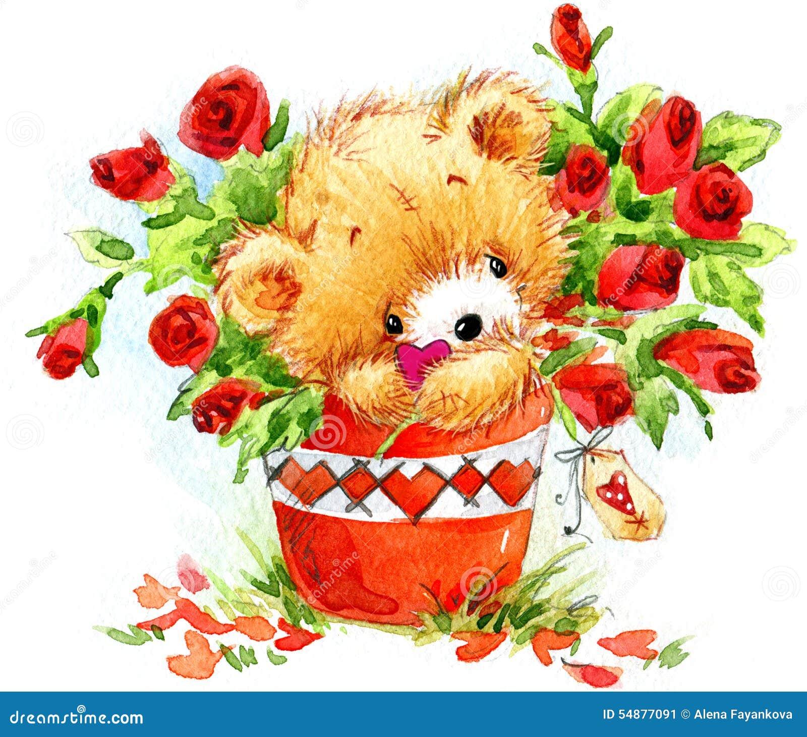 liebevolle paare lustiger teddyb r und rotes herz stock abbildung bild 54877091. Black Bedroom Furniture Sets. Home Design Ideas