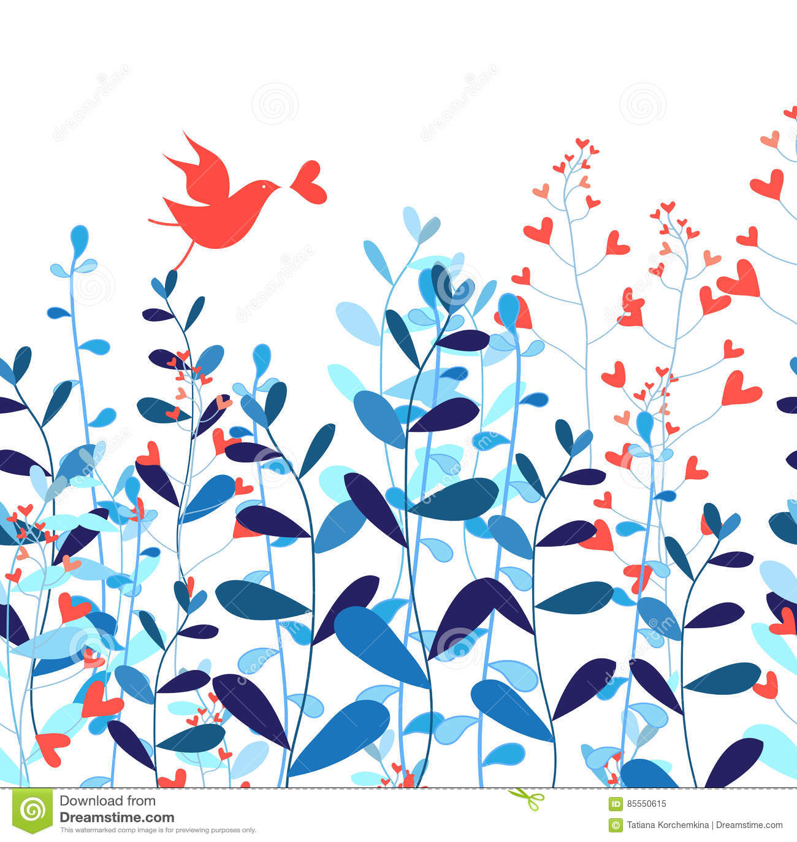 Liebhaberfeiertagskarte mit einem Vogel