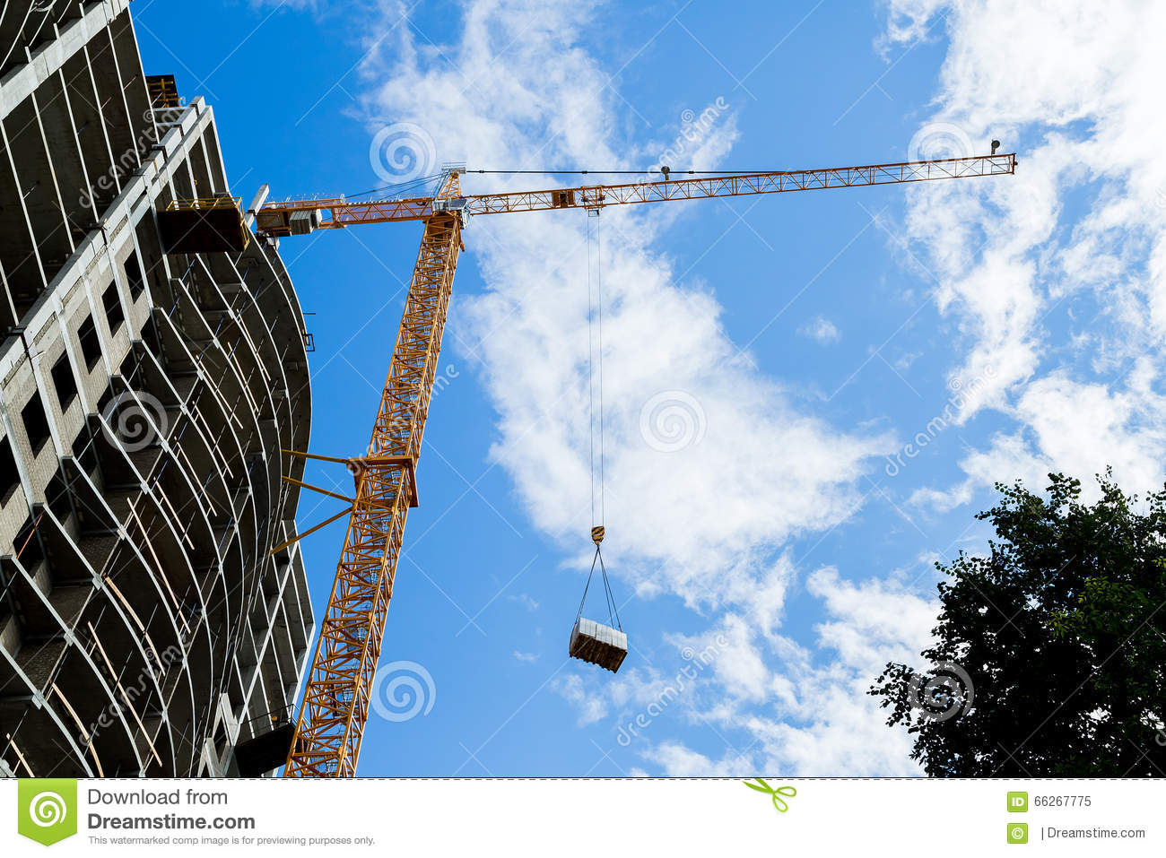 Liebherr tower crane stock image  Image of site, factory