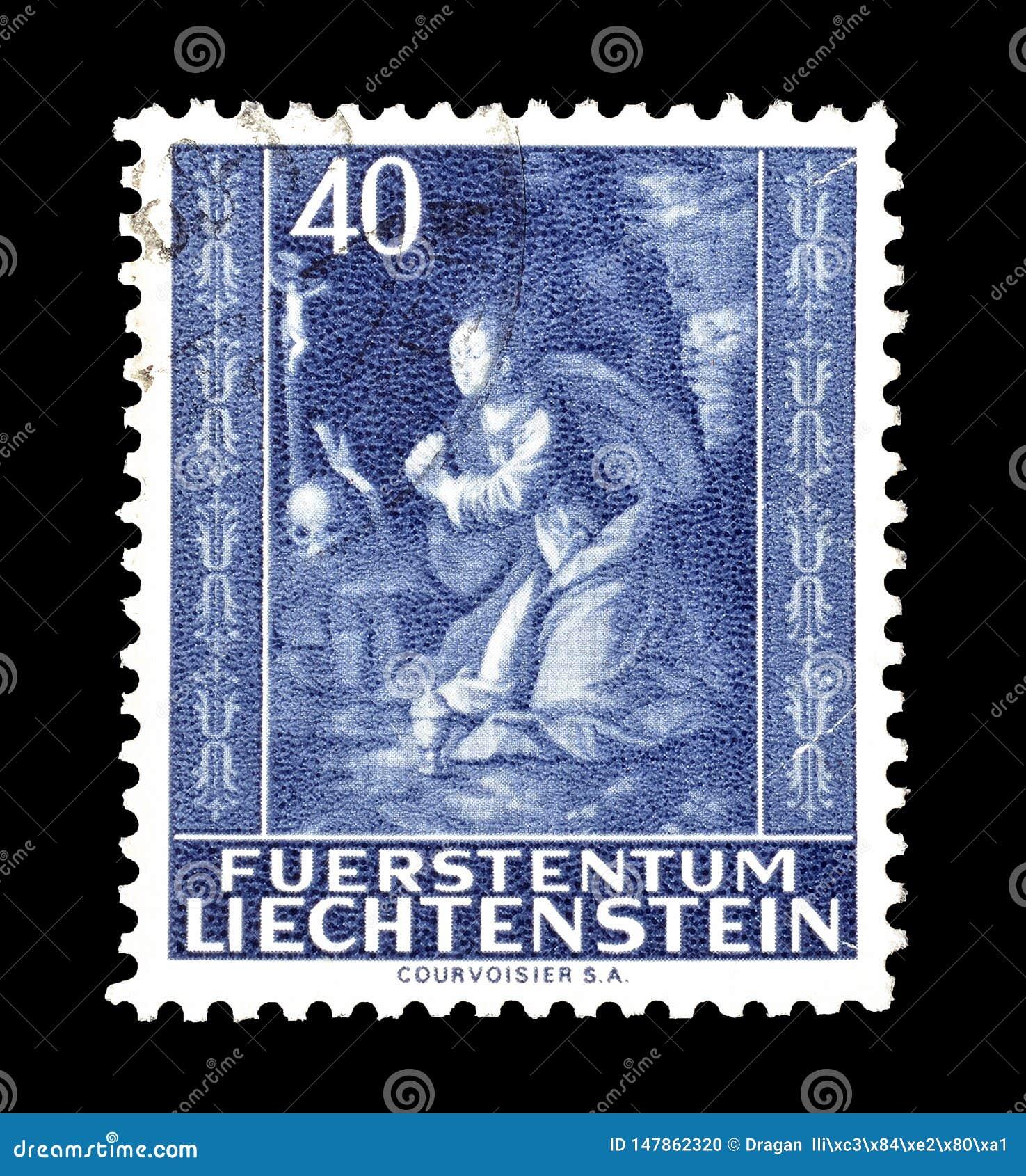 Liechtenstein On Postage Stamps Editorial Image Image Of