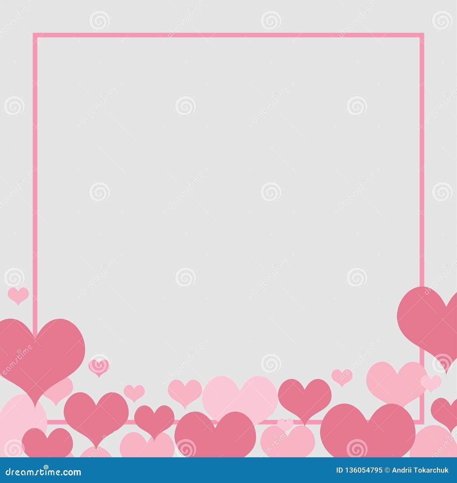 Liefde achtergrondelementenhart voor huwelijksconcept