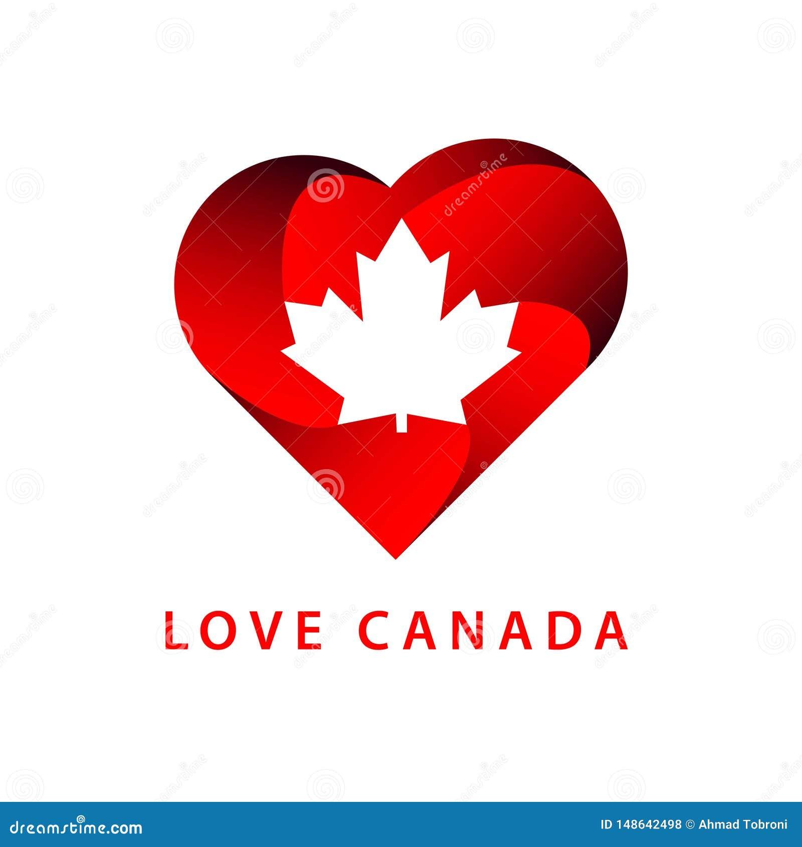 Liefde Canada Logo Vector Template Design Illustration
