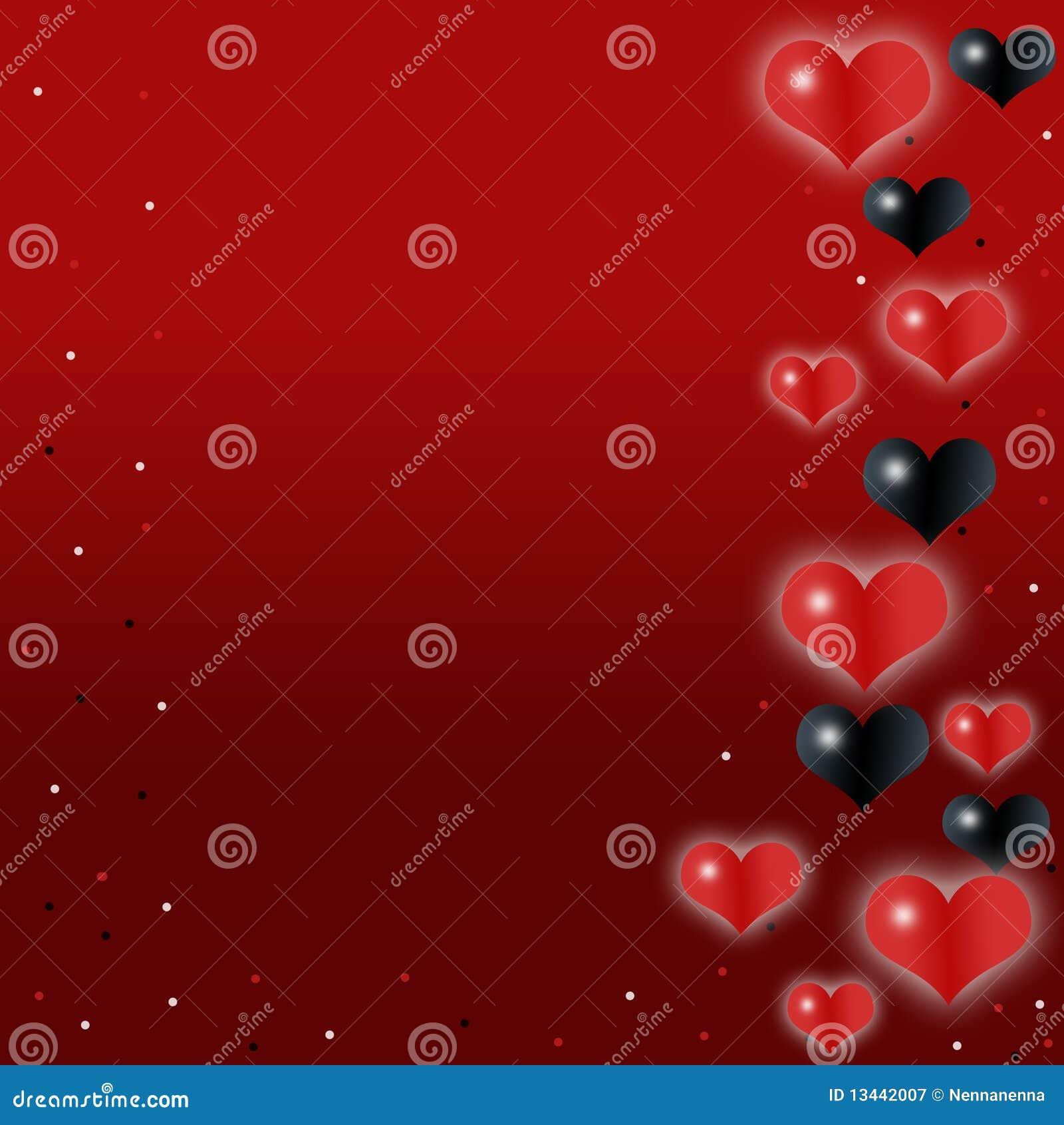 Liefde, romantische, rode achtergrond met leuke harten