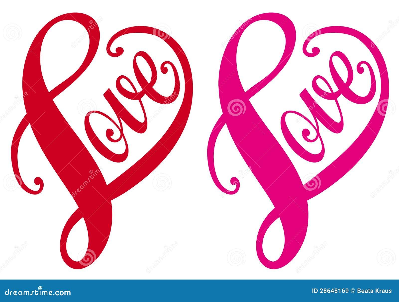 Liefde, rood hartontwerp, vector