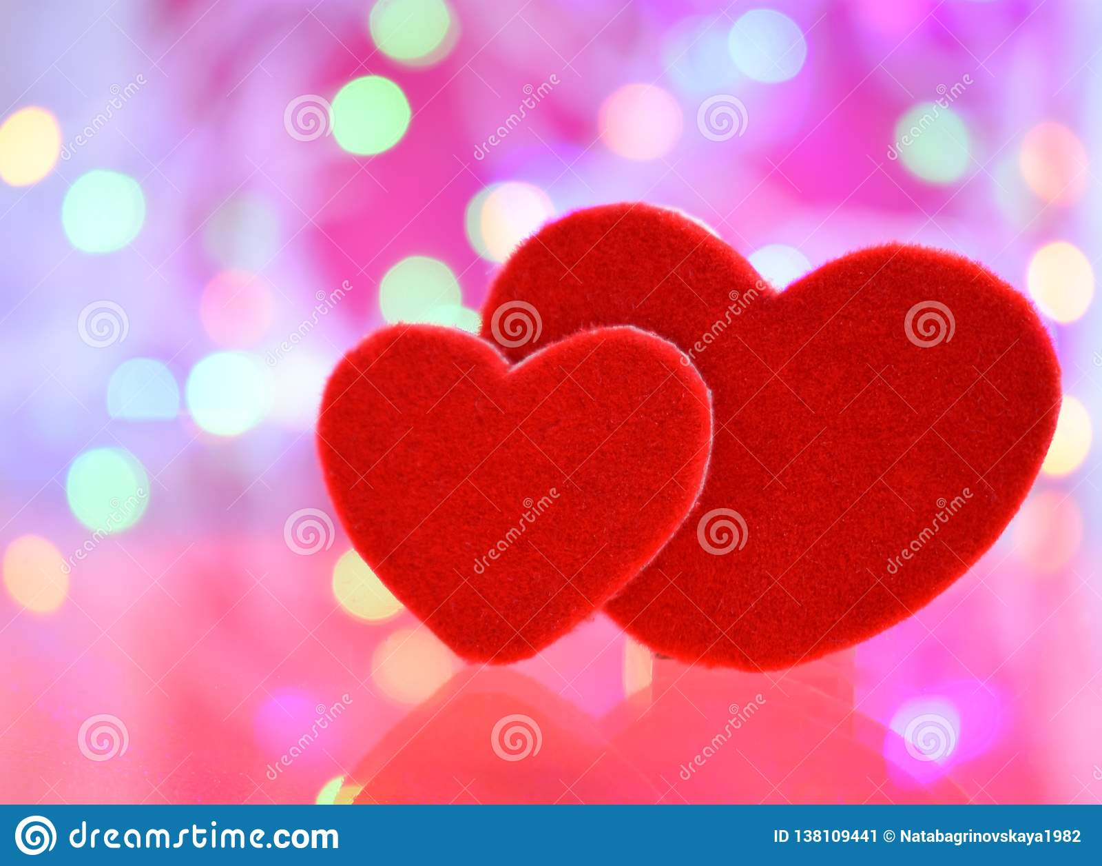 Liefde twee de dag Romaanse gelukkig van de hartenvalentijnskaart