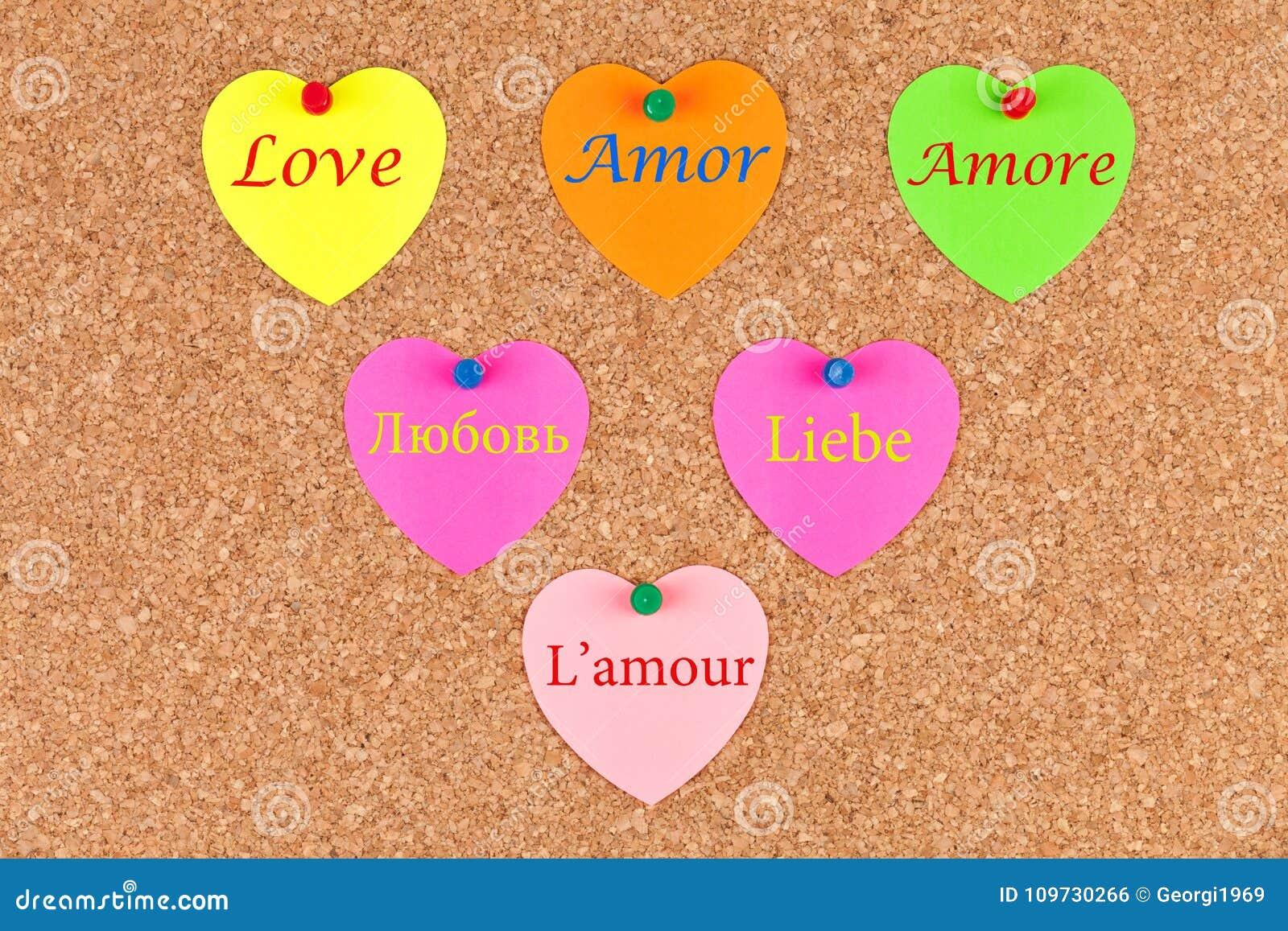 liefde in verschillende talen