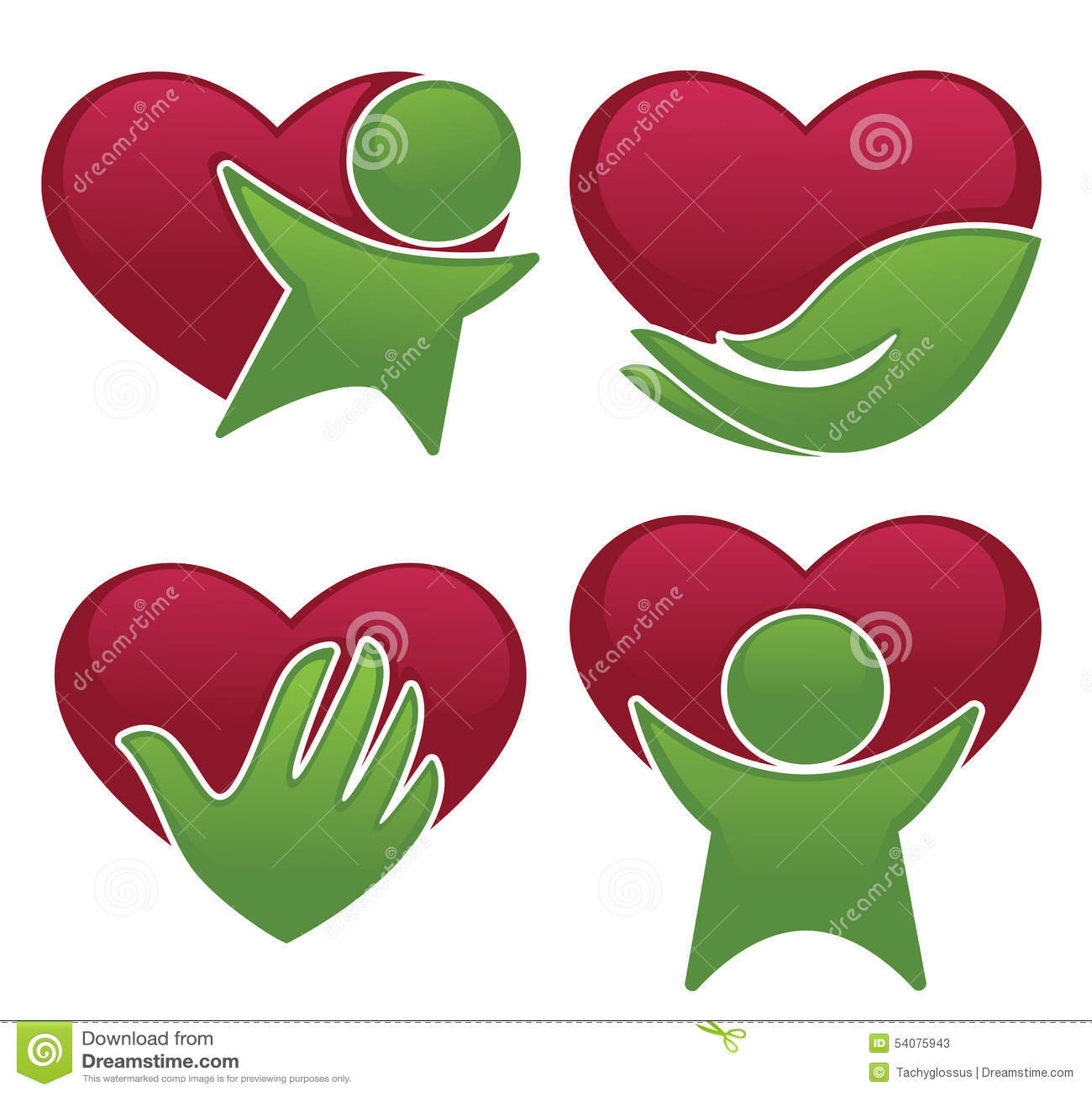 Liefdegezondheid, harten, mensen en geneeskundesymbolen en pictogrammen