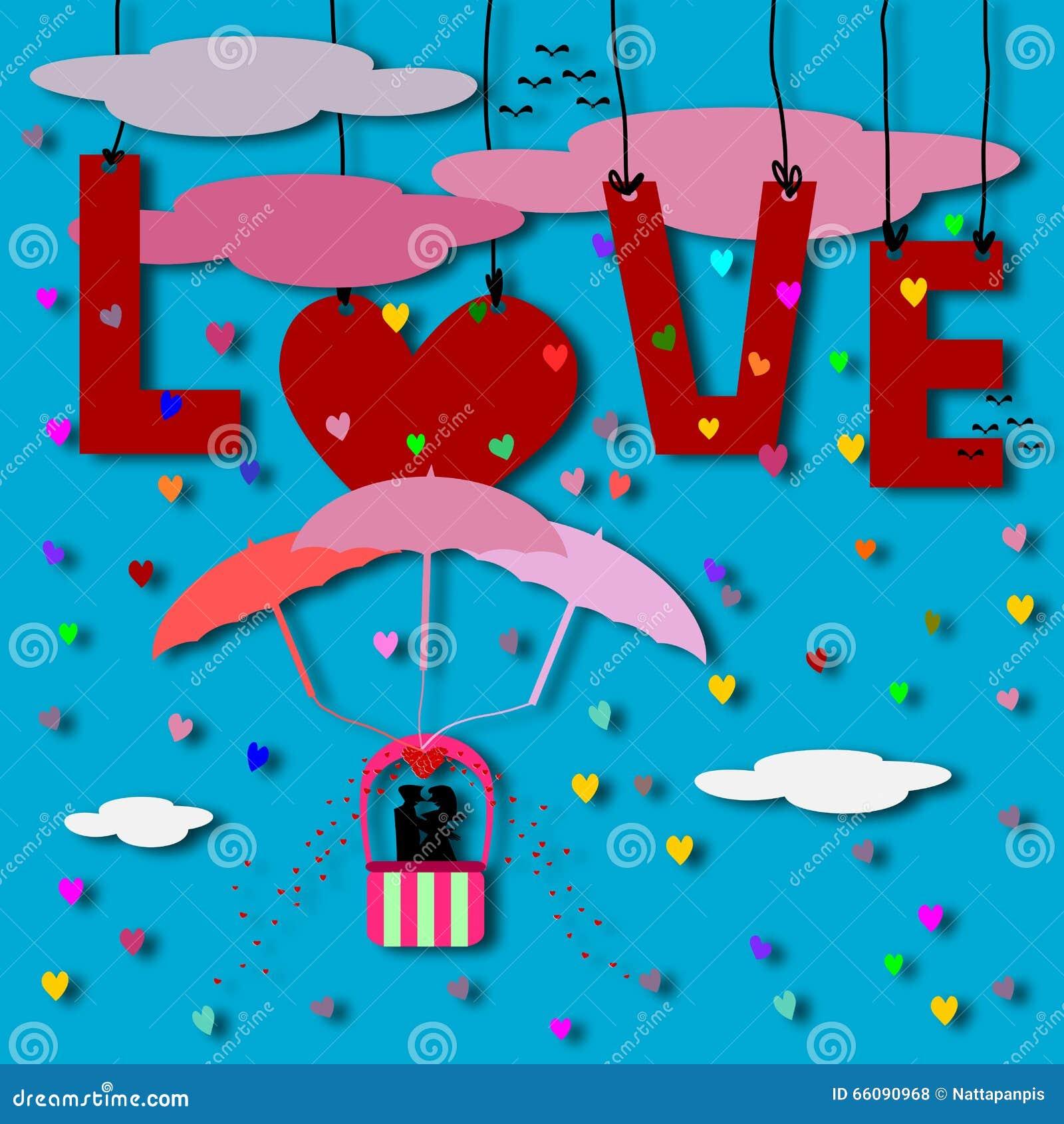 Liefdekaart, Paarliefde op luchtvaart