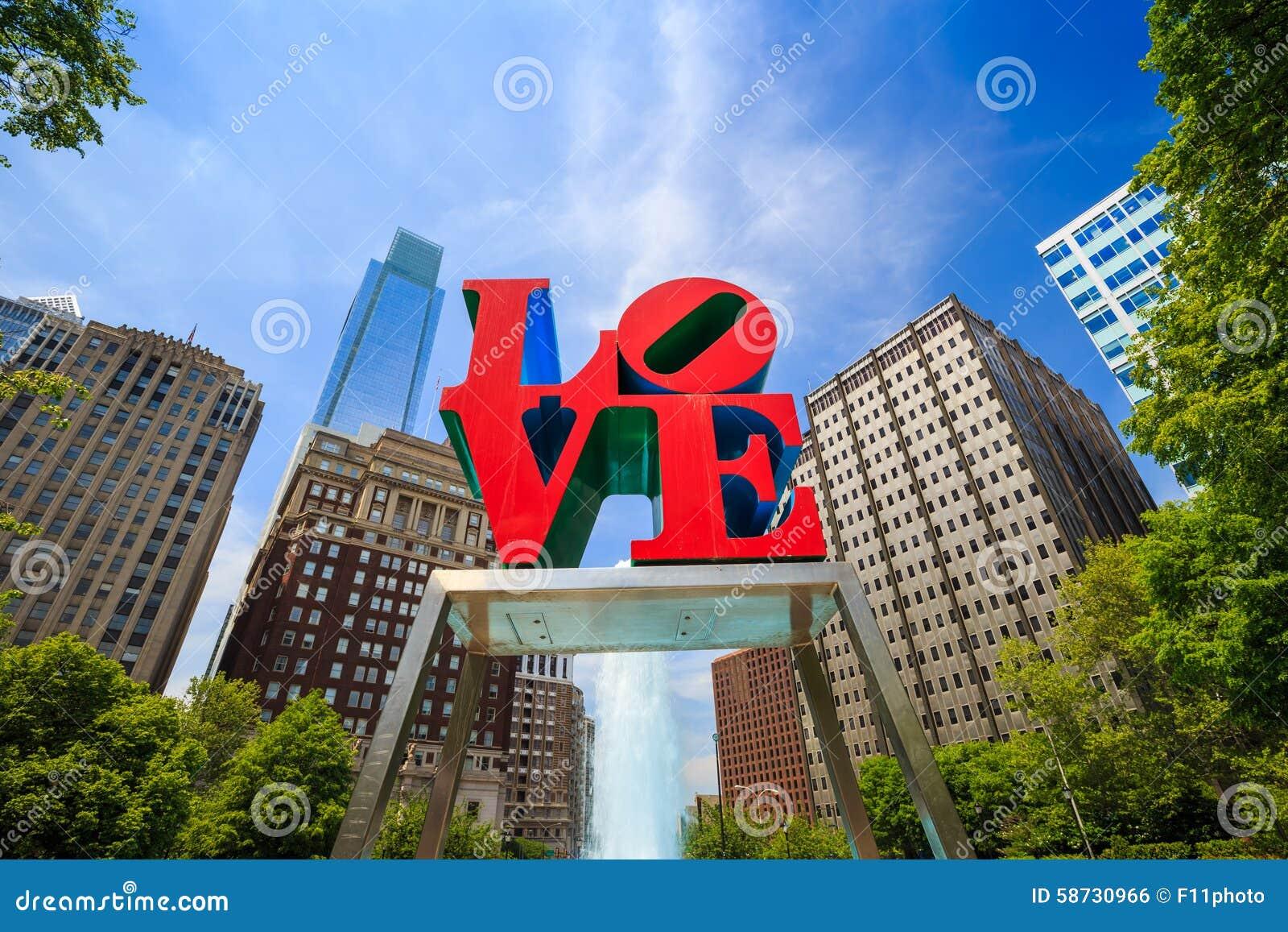 Liefdestandbeeld in Philadelphia