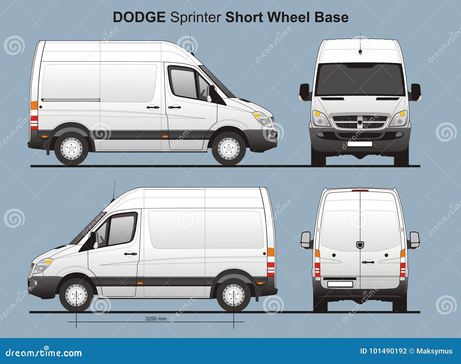 Lieferung Van Blueprint Dodge Sprinter Swb Redaktionelles