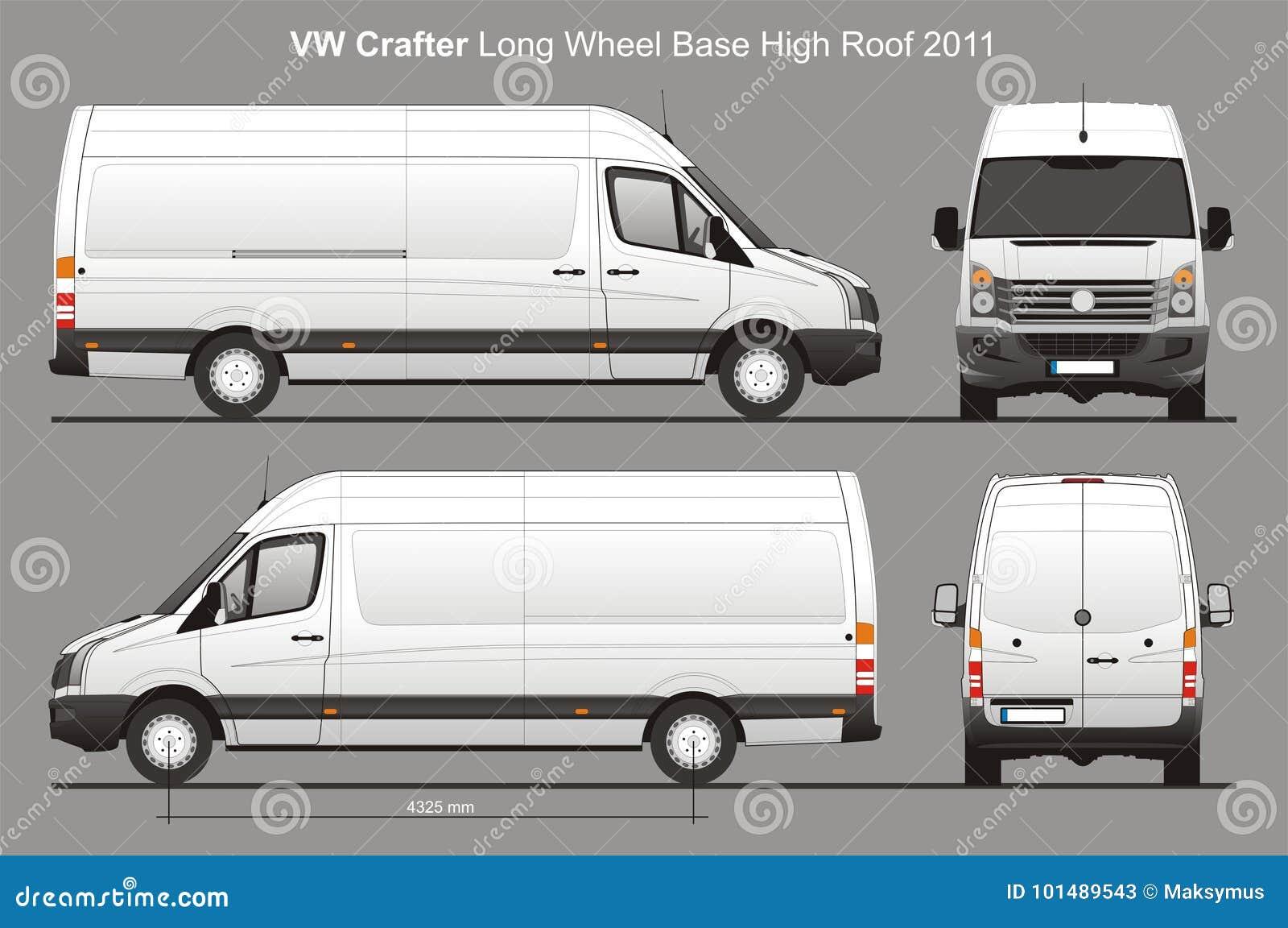 Lieferung Van Blueprint Vw Crafters Lwb Redaktionelles Stockfoto