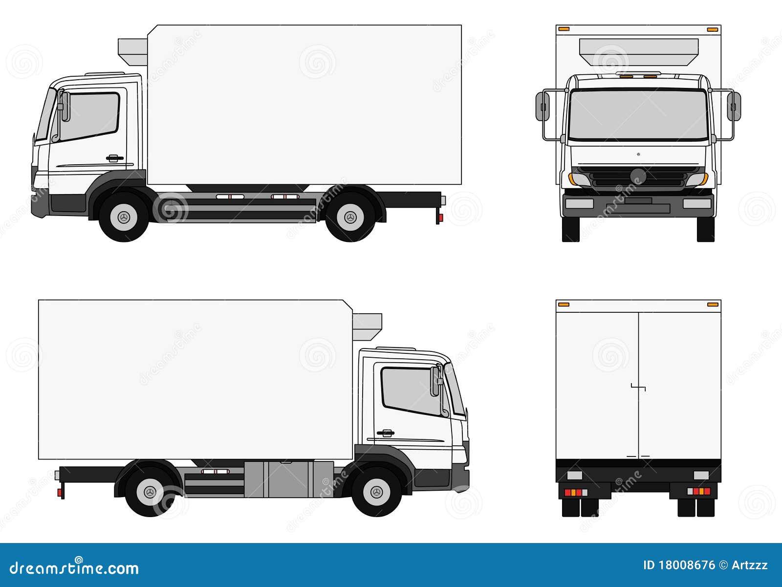lieferwagen stock abbildung illustration von eilbote 18008676. Black Bedroom Furniture Sets. Home Design Ideas