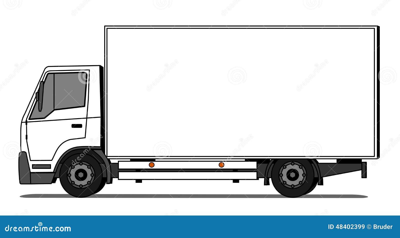 lieferwagen vektor abbildung illustration von marke 48402399. Black Bedroom Furniture Sets. Home Design Ideas