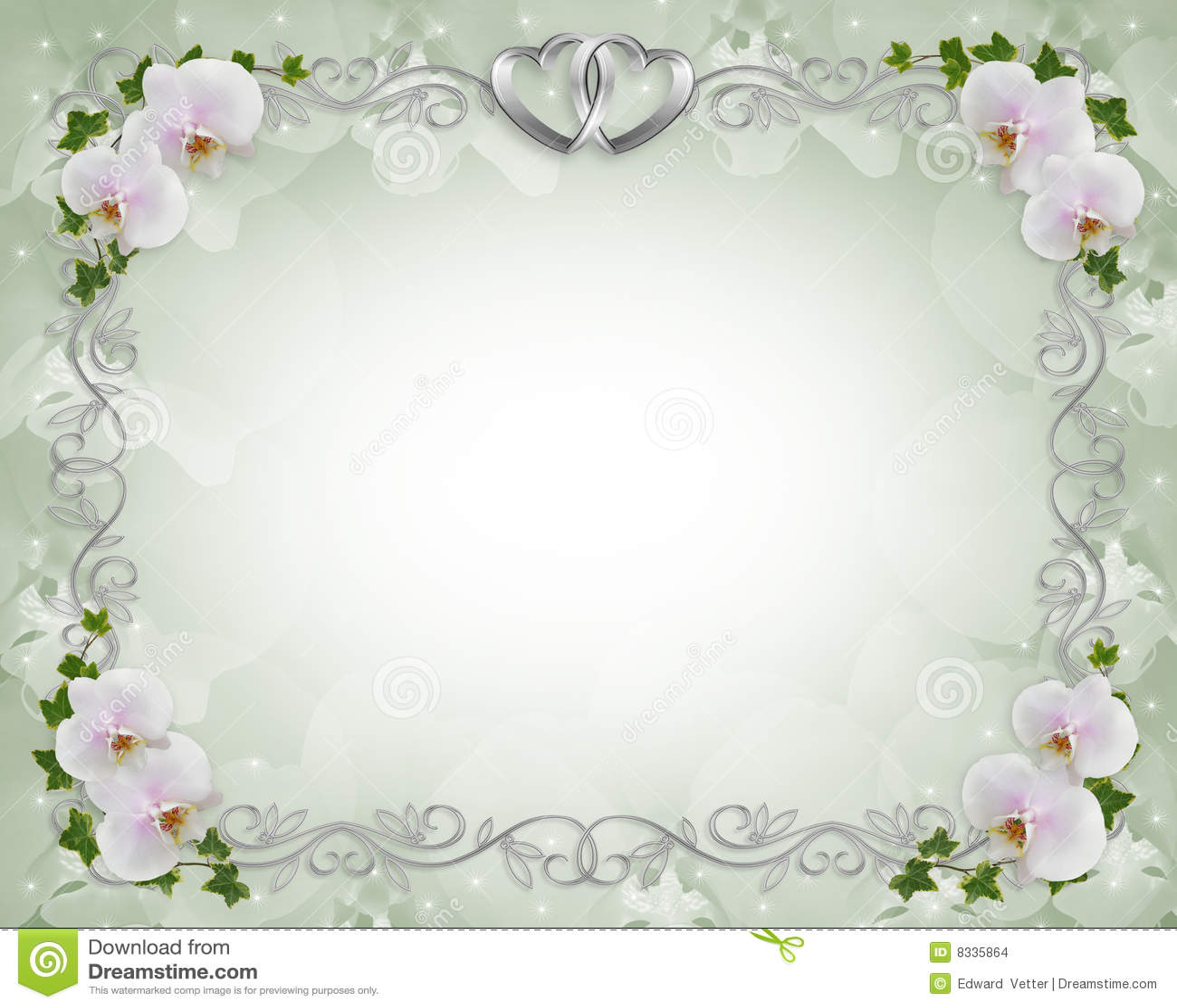 lierre d 39 orchid es de cadre d 39 invitation de mariage images stock image 8335864. Black Bedroom Furniture Sets. Home Design Ideas