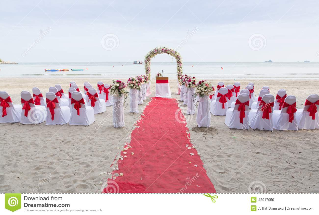 lieu de rendez vous de mariage sur la plage photo stock image 48017050. Black Bedroom Furniture Sets. Home Design Ideas