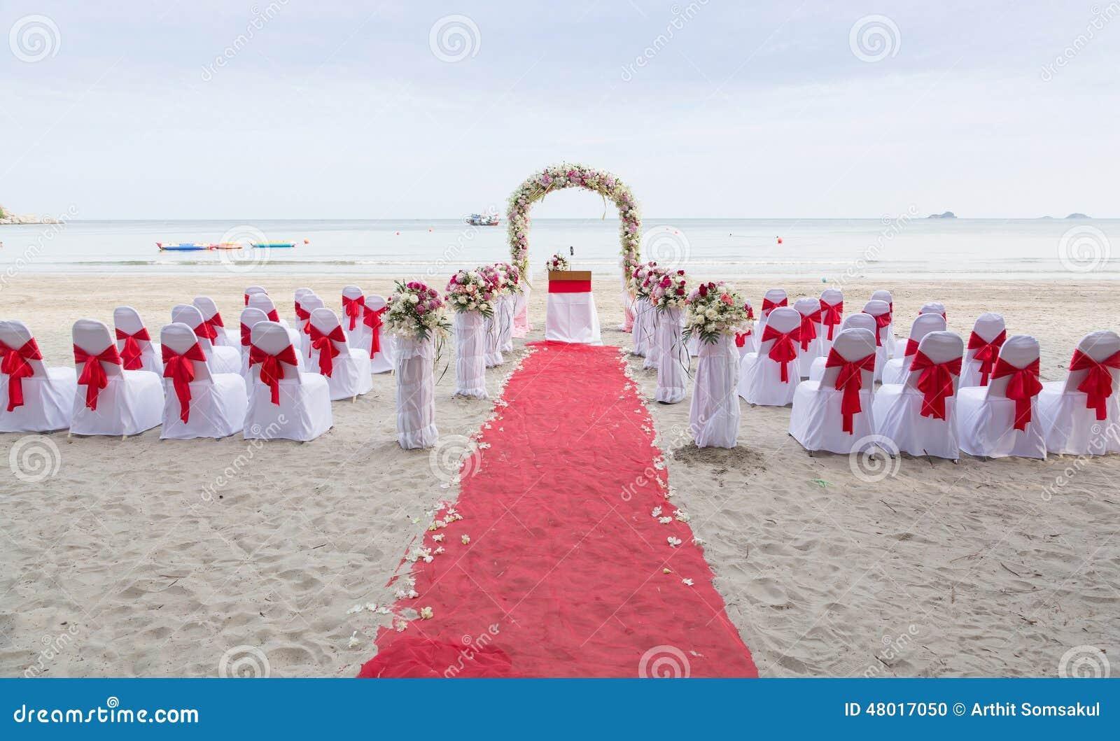 Lieu de rendez vous de mariage sur la plage photo stock image du r ception vacances 48017050 - Mariage a la plage ...