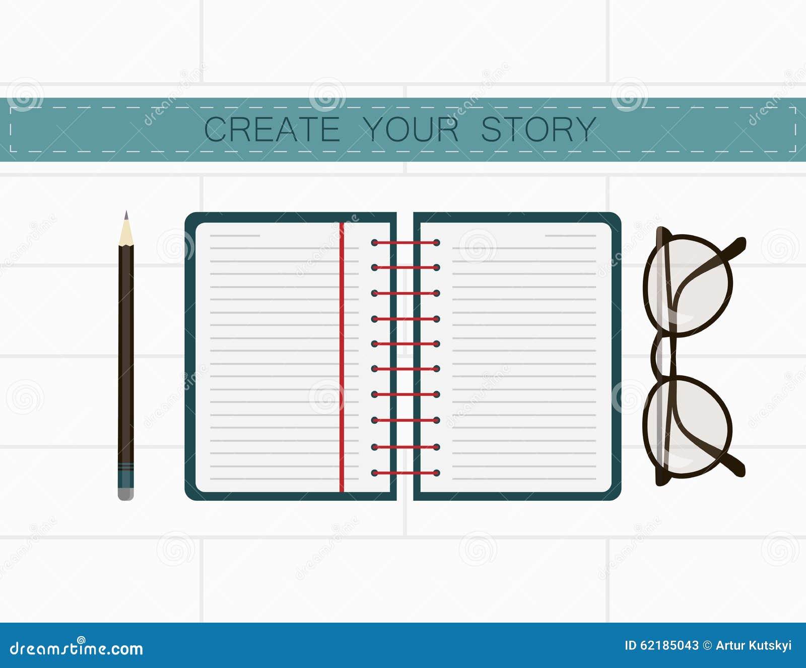 Lieu de travail d auteur Créez votre histoire dans les notes