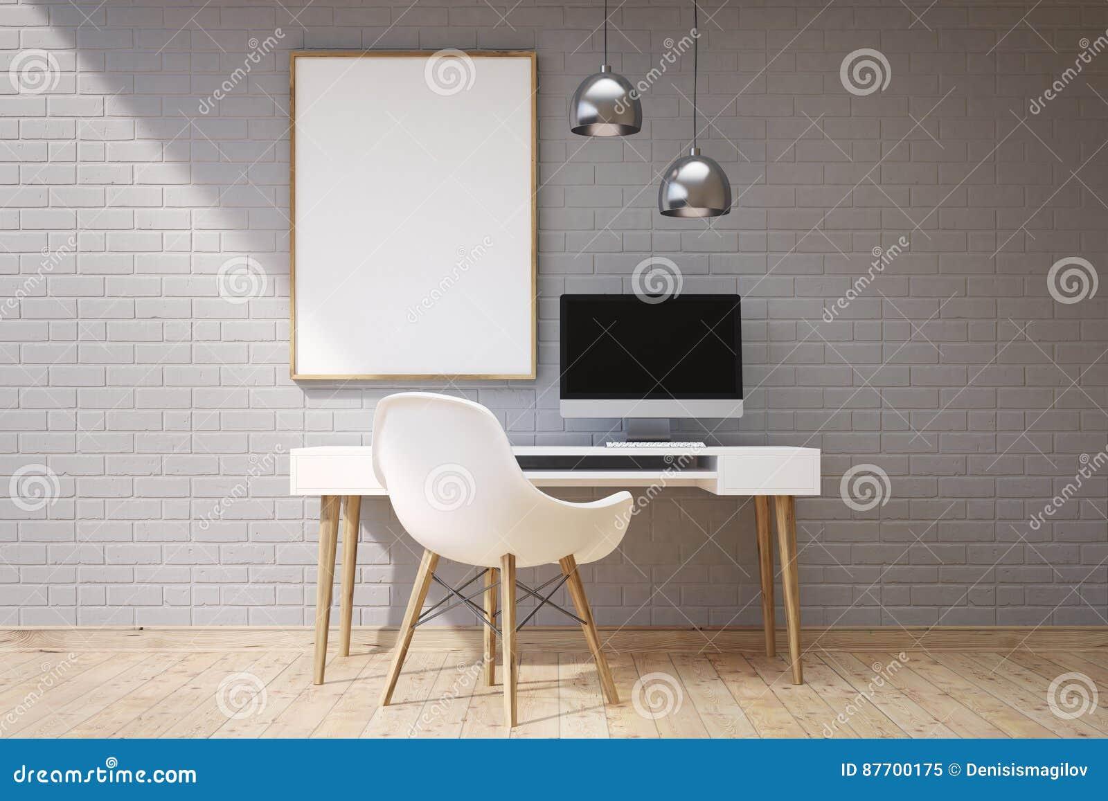 Lieu de travail dans le siège social, gris