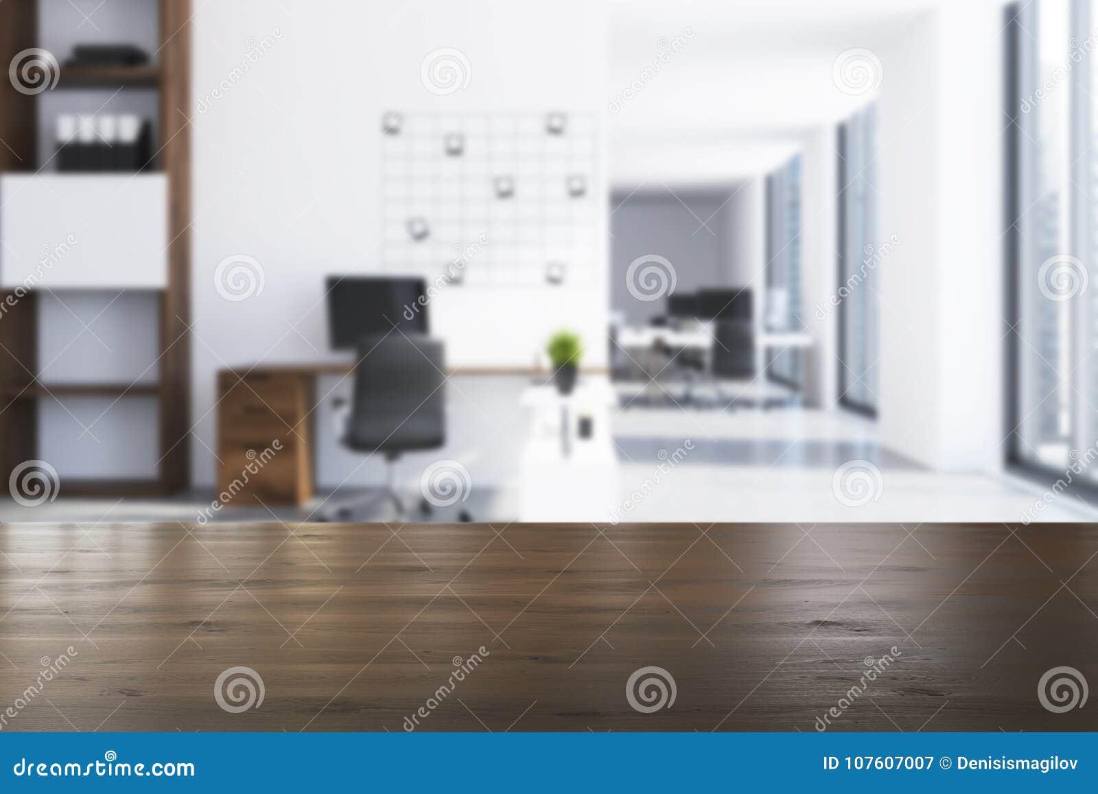 Lieu De Travail Moderne De Bureau, Tache Floue D\'avant De Photos ...