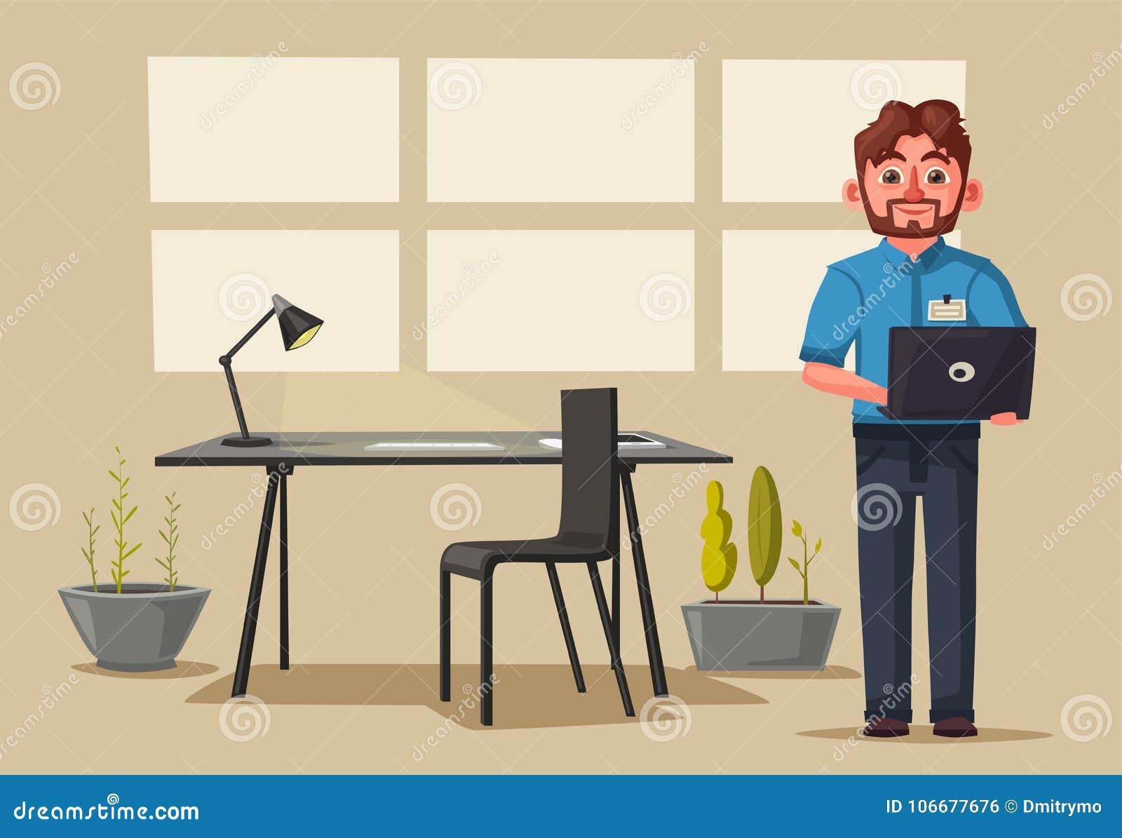 Lieu de travail moderne caractère créateur travail de bureau