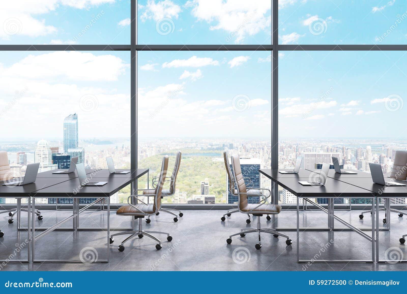 Dans Panoramique Un ModerneVue Lieux De Travail New York Bureau K1FlcJ