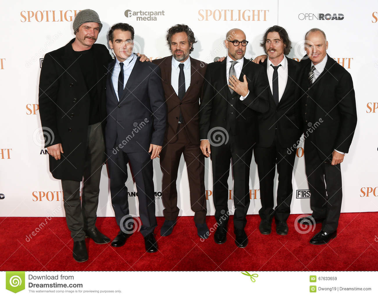 Liev Schreiber, Brian d Arcy James, Mark Ruffalo, Stanley Tucci, Billy Crudup, Michael Keaton