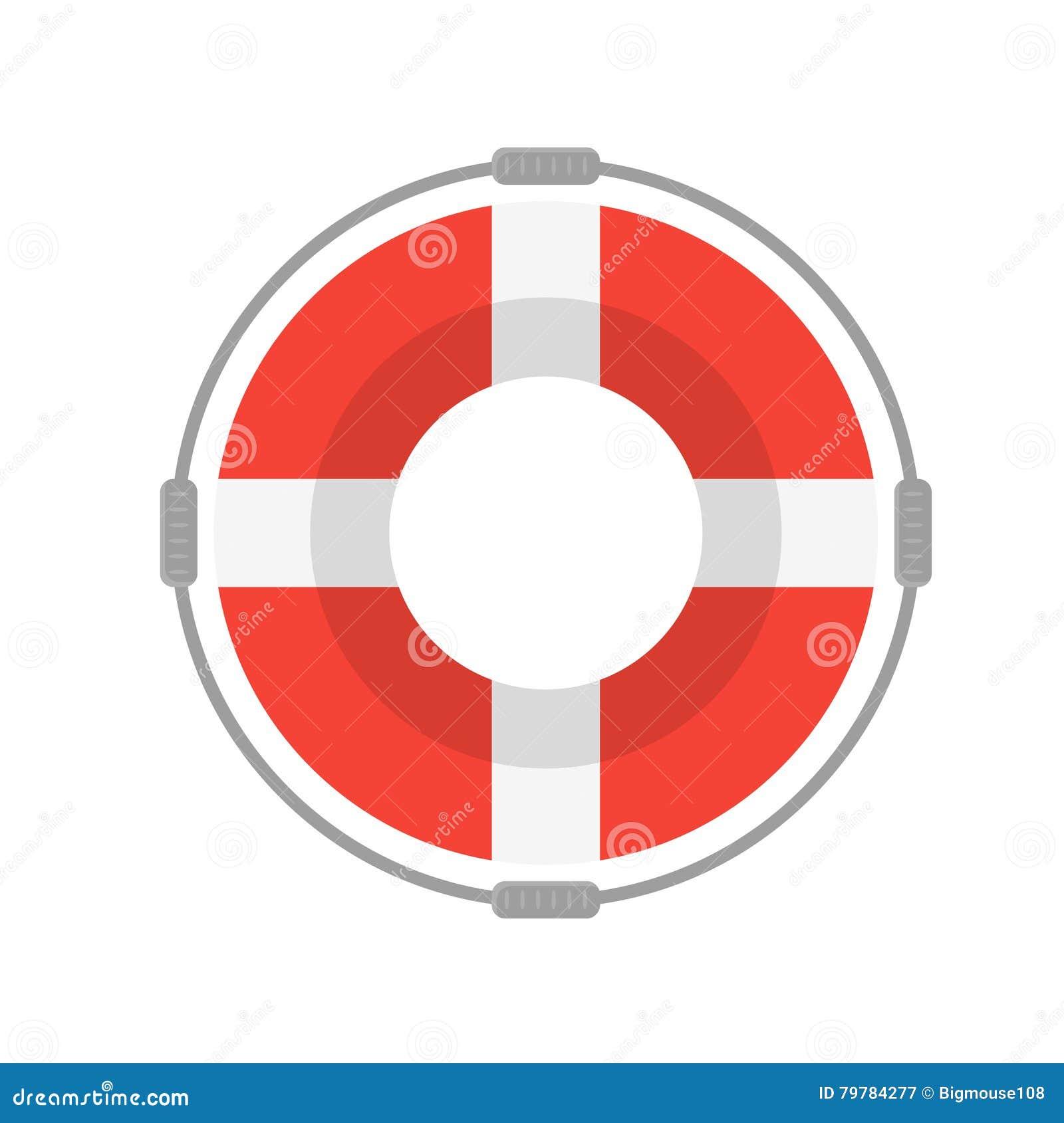 e5ca270e92e8 Life Buoy with Rope On White Background. Flat Design Style Vector  illustration. More similar stock illustrations